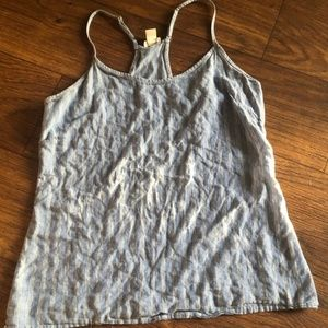 J. Crew Blue and White Tank Top Size 2